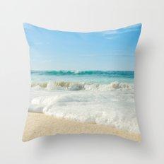 Aloha Kapukaulua Beach Throw Pillow