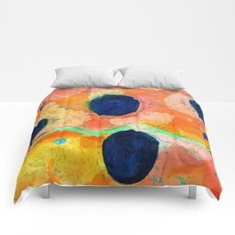 Spring Abstract Comforters