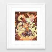 courage Framed Art Prints featuring Courage by Nadiezda