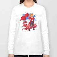 enjolras Long Sleeve T-shirts featuring Vive La Révolution! by juanjoltaire