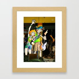 Jak & Gina Framed Art Print