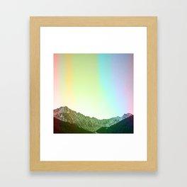 Rainbow Ridge Snow Capped Mountain Range \\ Colorado Landscape Photography \\ B&W Ski Season Art Framed Art Print