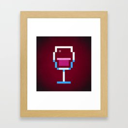 Pixel Wine Framed Art Print