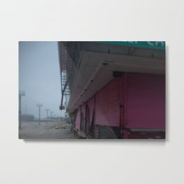 Pink Gates, After Sandy Metal Print