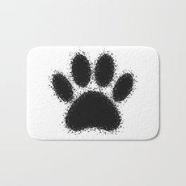 Dog Paw Drawing Bath Mat