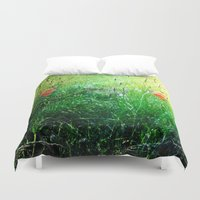 poppy Duvet Covers featuring Poppy by Rose Etiennette