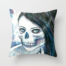 Skullgirl Throw Pillow