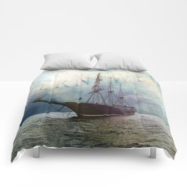fernweh for distant lands [expedition to Galapagos] v2 Comforters
