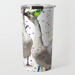 Partying Geese Travel Mug
