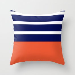 Summer Patio Perfect, Adobe Orange, White & Navy Throw Pillow