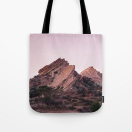 Desert Landscape at Magic Hour Tote Bag
