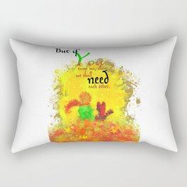 The Little Prince | Quotes | But if you tame me, then we shall need each other. Part 1 of 3 | #B2 Rectangular Pillow