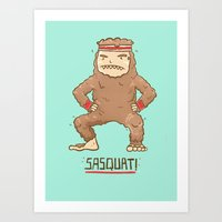 sasquatch Art Prints featuring Sasquatch by Darel Seow