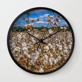 Sea of Cotton Wall Clock