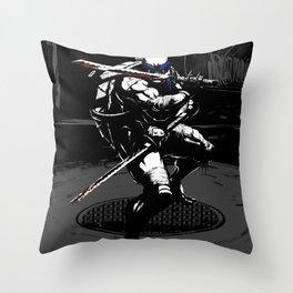 TMNT Leo  Throw Pillow