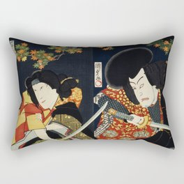 One of the portrait from the collection of portraits Portraits of Actors Often Playing Roles by Toyo Rectangular Pillow