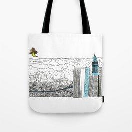 Illustration_ On the road_ Jack Kerouak Tote Bag