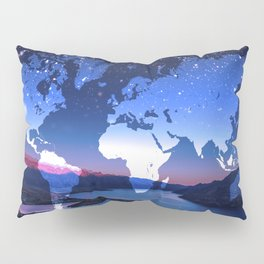 So Many Places to Visit Pillow Sham