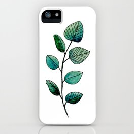 Watercolor Leaf iPhone Case