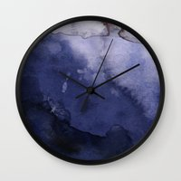agate Wall Clocks featuring Agate by Tooth & Nail Designs