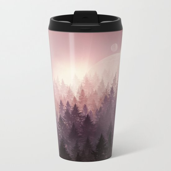 fantasy forest Metal Travel Mug