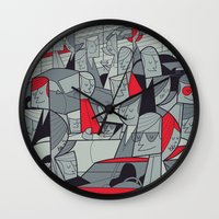 porsche Wall Clocks featuring Porsche Racing by Ale Giorgini