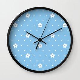 Delicate Flower Pattern Wall Clock