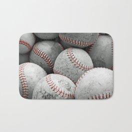 Vintage Baseballs Bath Mat