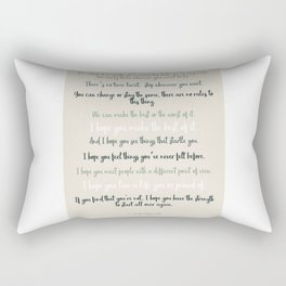 For what it's worth by F Scott Fitzgerald 2 #minimalism #poem Rectangular Pillow