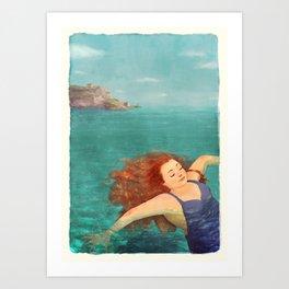 Floating in the Ocean Art Print