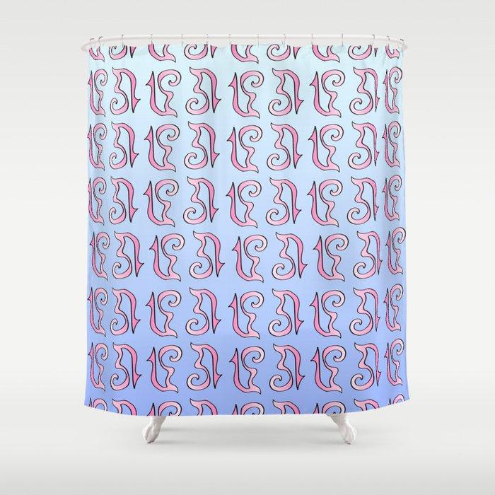 ribbon 17-ornamental,fabrics,fashion,decorative,girly,gentle Shower Curtain
