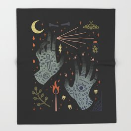 A Curse Upon You! Throw Blanket