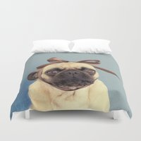 bow Duvet Covers featuring Bow-Tiful by itslolathepug