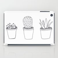 succulents iPad Cases featuring Succulents  by Charlotte