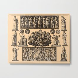 Iconographic Encyclopedia of Science, Literature and Art (1851) - Apollo and Dionysus Metal Print