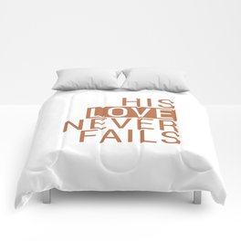 Christian,Bible Quote,love never fails Comforters