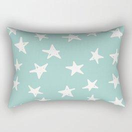 Vintage Stars on Teal Rectangular Pillow