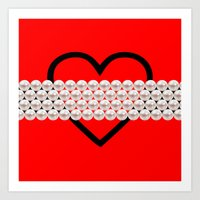 HEART AND PEARLS! Art Print