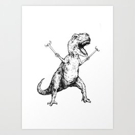 Unstoppable T-Rex  Art Print