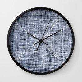 Ink Weaves: Sapphire Wall Clock