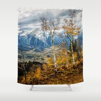gore Shower Curtains featuring Colorado Autumn by AwakeningLight