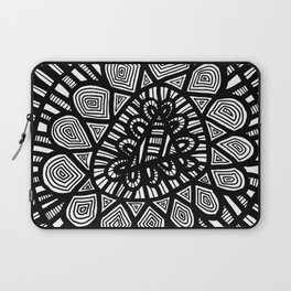 Black and White Doodle 7 Laptop Sleeve