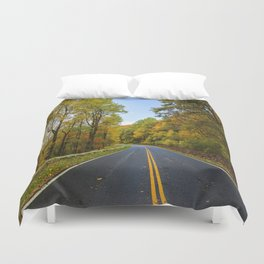 Autumn Road Trip Duvet Cover