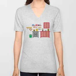 a kitchen Unisex V-Neck