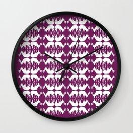Oh, deer! in violet purple Wall Clock