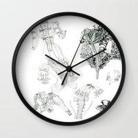 supreme Wall Clocks featuring Bodice supreme by Parcellesdemumu