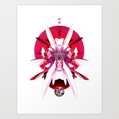 Another Photoshop Robot (Alternate Version) Art Print