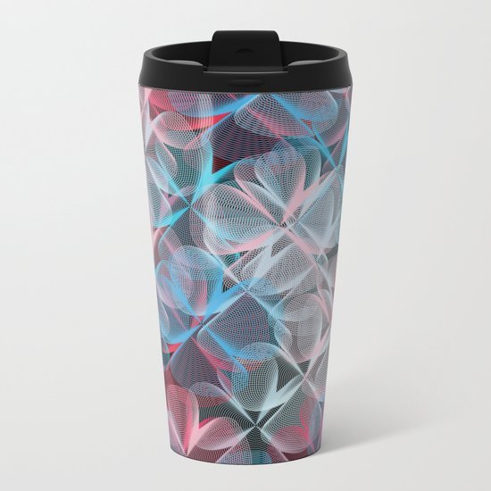 Abstract 159 Metal Travel Mug