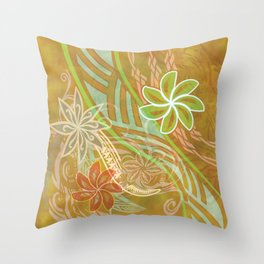 Piaia Beach Print Throw Pillow