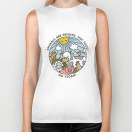 Vegan Animal Funny Humour Vegetarian Girls Womans Kids Hen Do Vegan T-Shirts Biker Tank